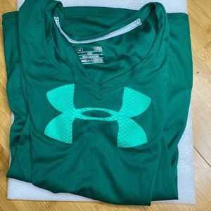 Green Under Armour Top